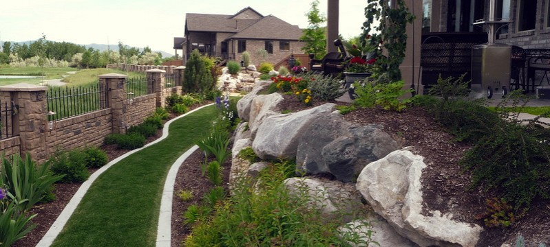 Concrete Curbing, Plain, Stamped, Colored